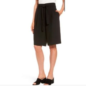 Halogen Nordstrom PLUS Short Pant Black Wide Leg